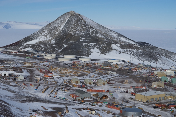 McMurdo and Observation (Ob) Hill, from Arrival Heights