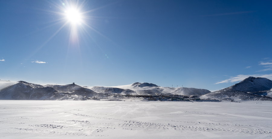 McMurdo Station from the sea ice
