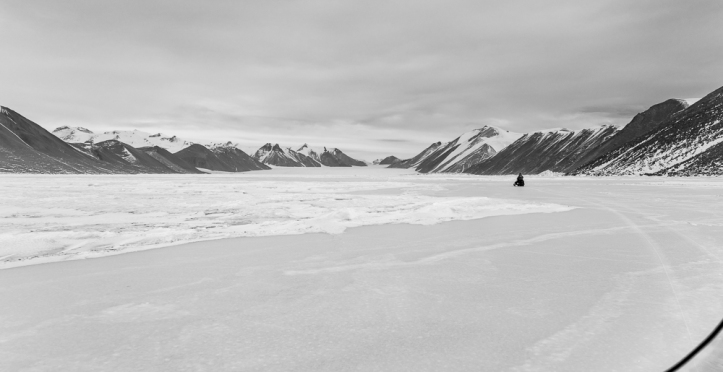 Snowmobile ride to Ferrar Glacier