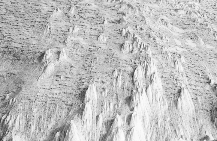 Surface of the Herbertson Glacier.