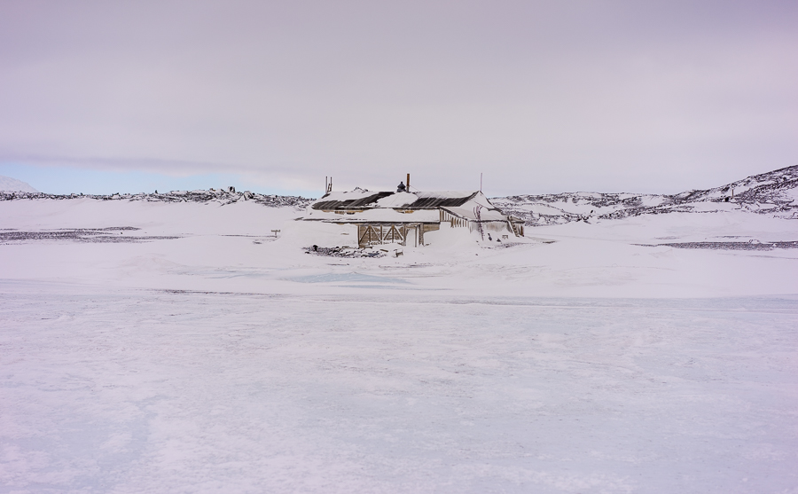 Cape Evans Hut From Sea Ice