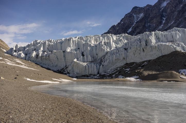 Suess Glacier from Lake Hoare.