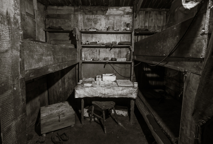 Geologist's bunks and work area.