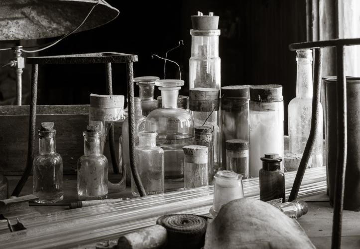 Biology bench detail.