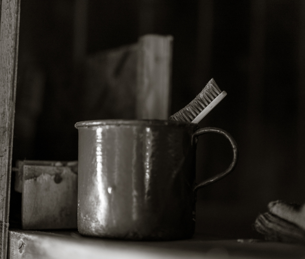 Cup and toothbrush, probably Wright's.