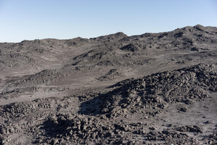 the moon-like landscape of Cape Royds with lava pillows being the predominant landscape feature.