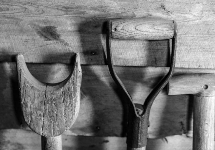 Shovel handles.