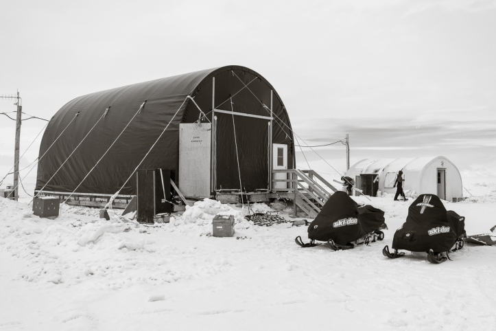 SIMPLE site on the sea ice about 1/2 ride on snow mobile from McMurdo Station.
