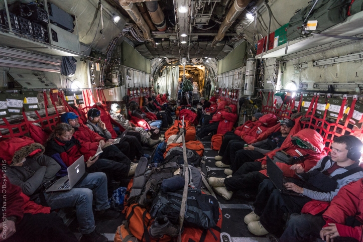 C-130 flight to Christchurch from McMurdo