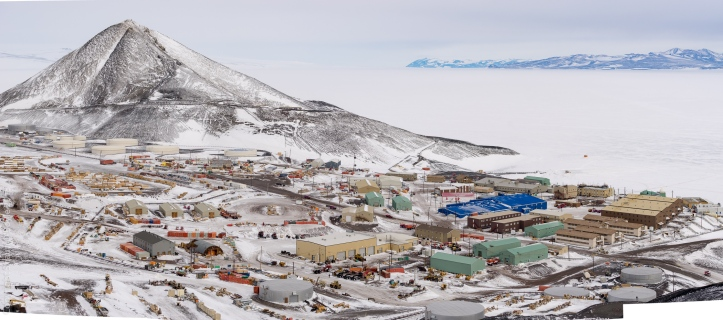 McMurdo Station and Observation Hill from the Hut Point Ridge Loop Trail